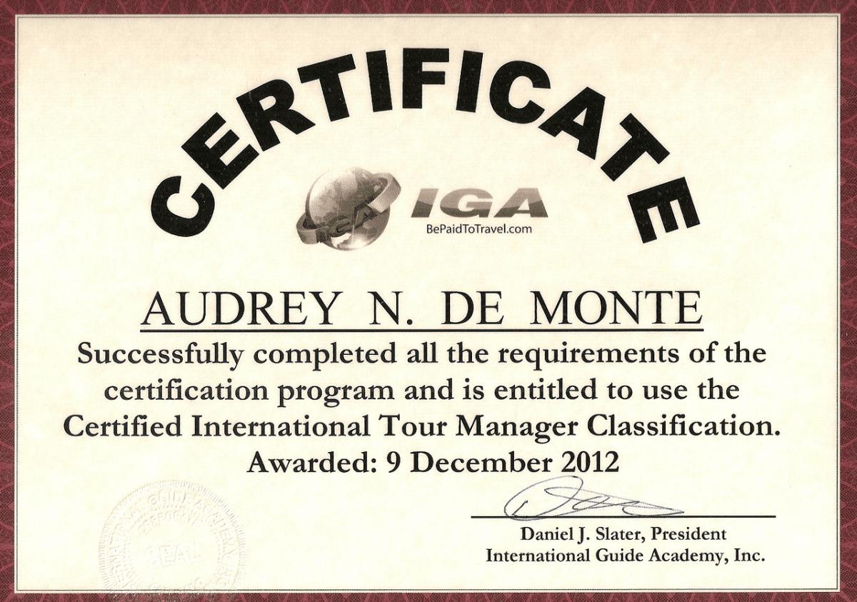 IGA-CITM-certificate