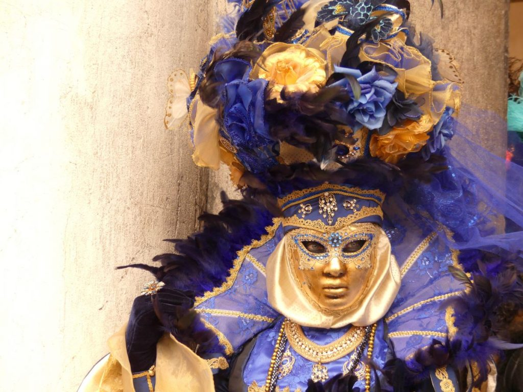 Costumes of the carnival in Venice
