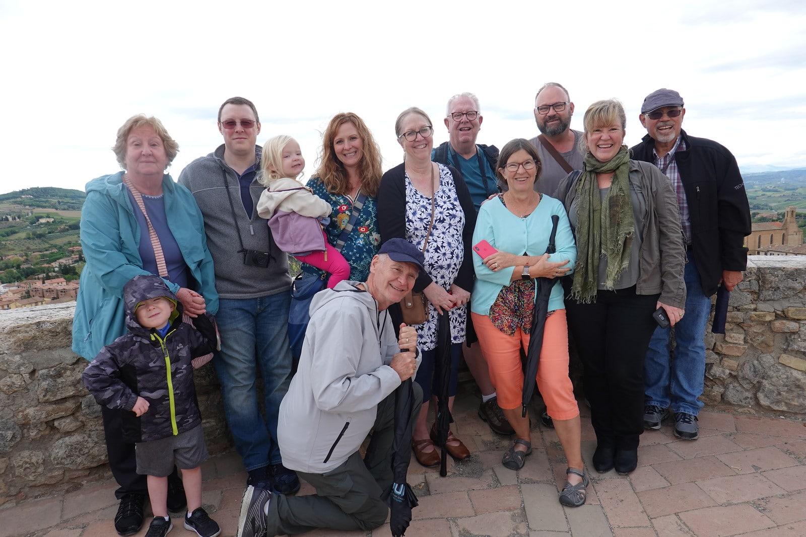 San Gimignano group photo