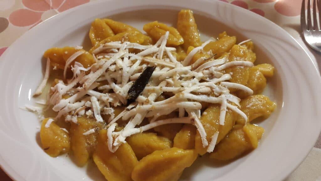 gnocchi di zucca with ricotta affumicata in friuli