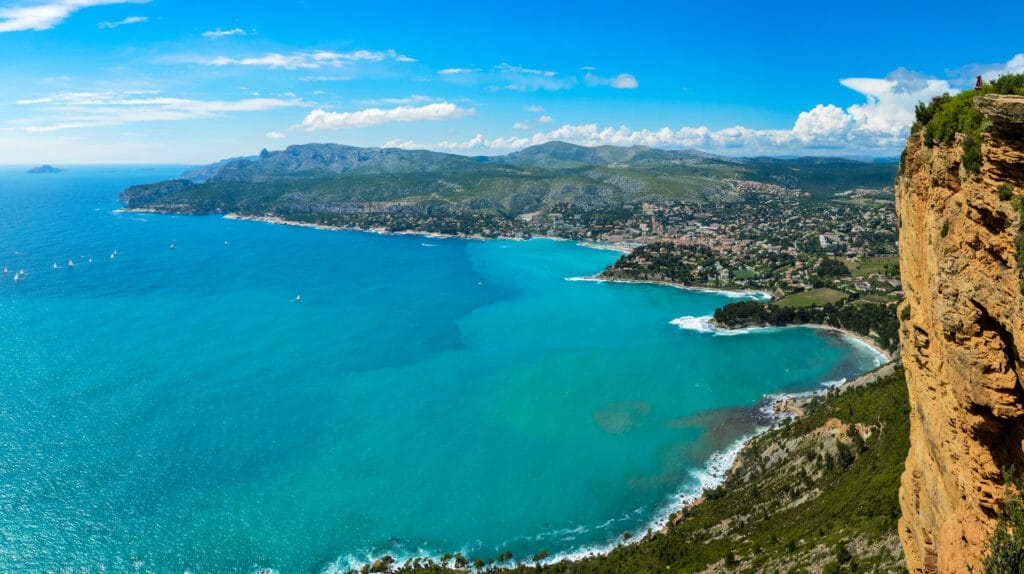 the beautiful views over Cassis