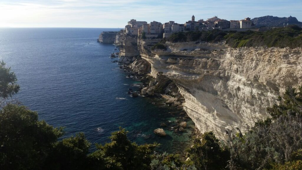 Bonifacio and its white cliffs