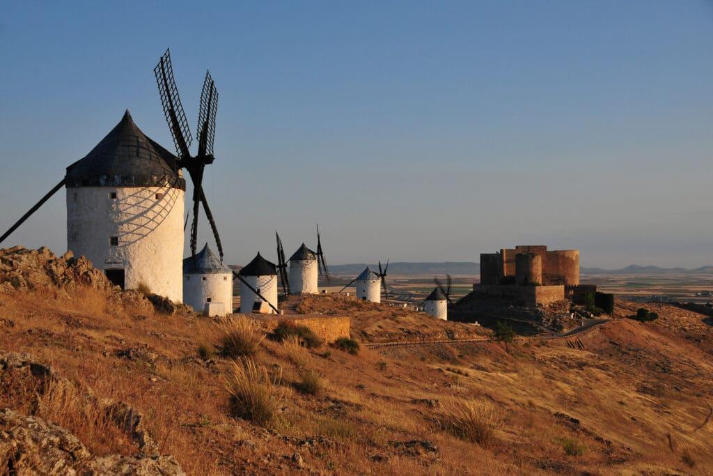 windmills in consuegra in castilla la mancha