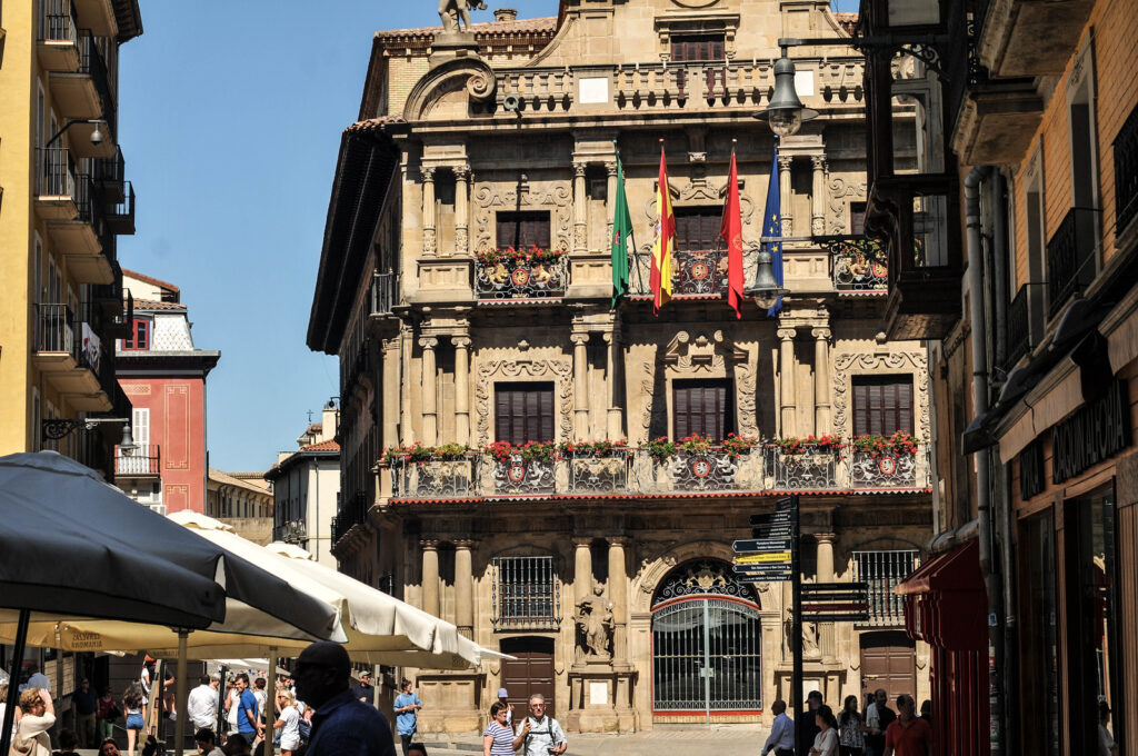 Pamplona, the running of the bulls city in Spain
