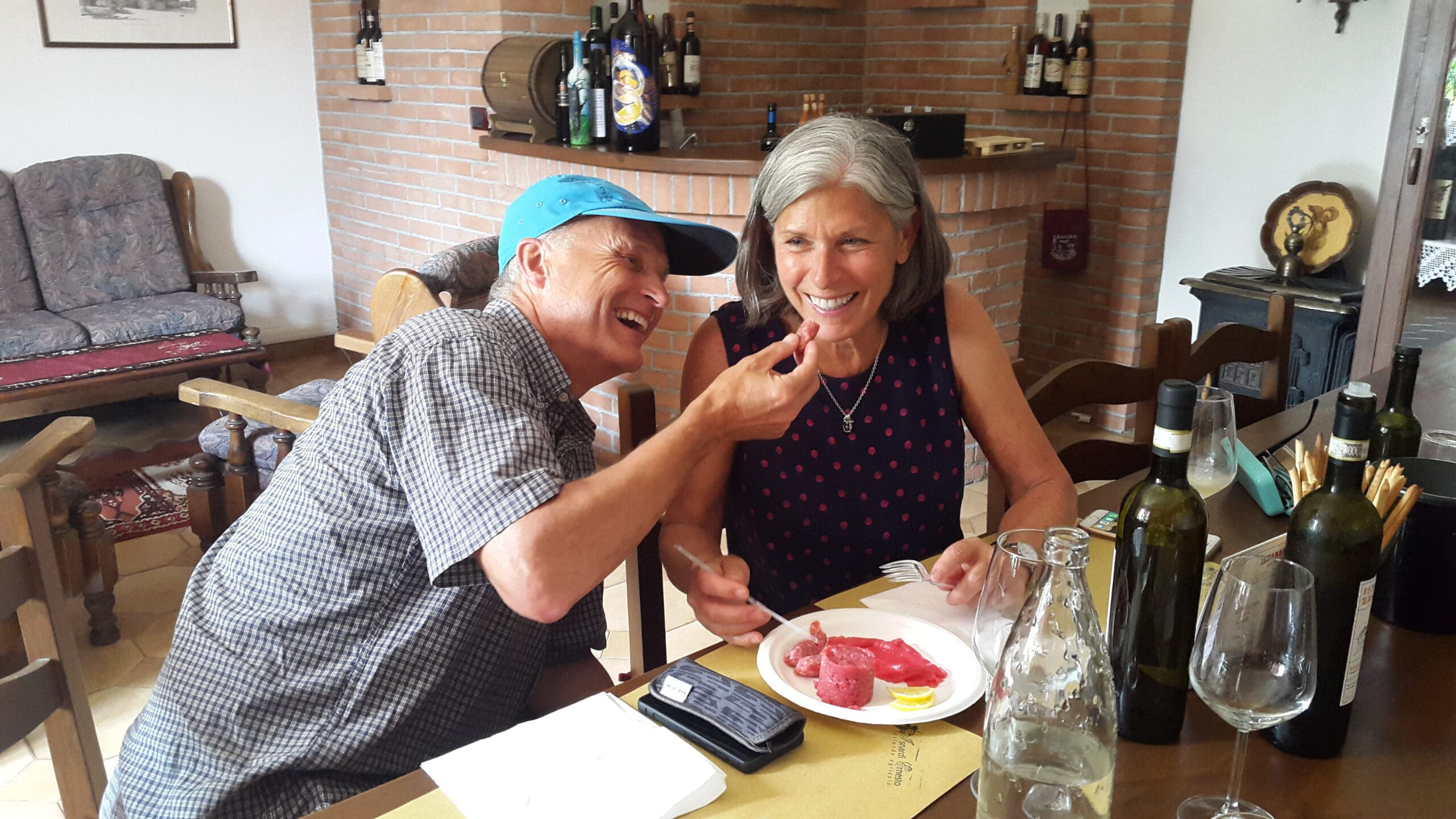 Wine tasting with raw meat in Piemonte at my friend's Andrea (butcher and wine maker)