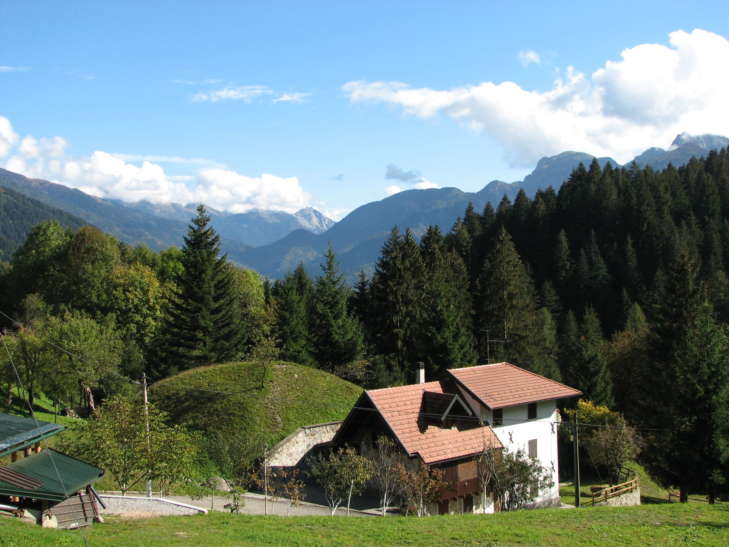 Sauris situated within the Carnia mountain area of Friuli